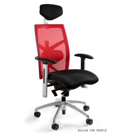 Unique Exact Fotel biurowy, czerwony W-099Y-BL418-2
