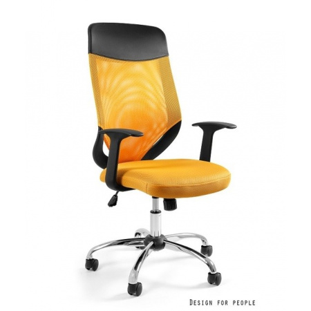 Unique Mobi Plus Fotel biurowy, żółty W-952-10