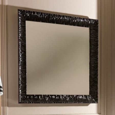 Kerasan Retro Lustro łazienkowe 100x100 cm, czarna rama 736401