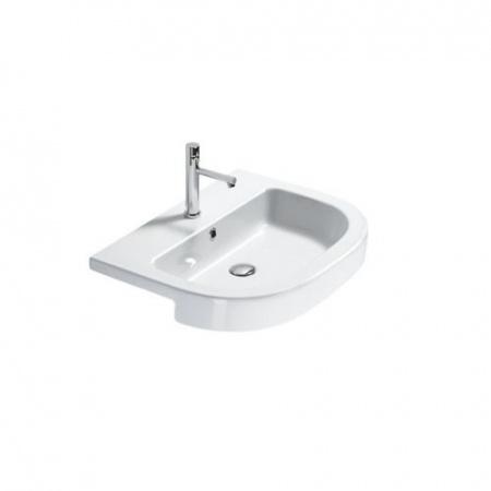 Catalano Zero Tondo Umywalka półblatowa 65x46 cm z powłoką CataGlaze, biała 1LSZE00