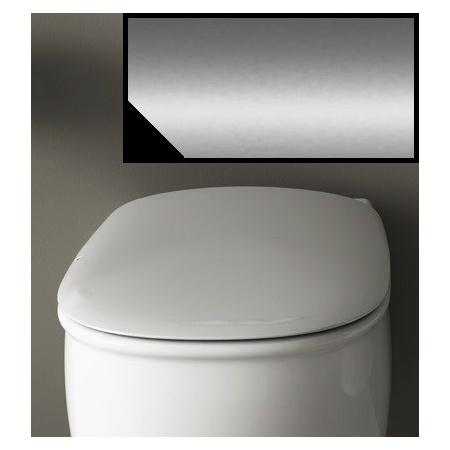 Art Ceram Azuley Deska wolnoopadająca 36x52 cm, czarna, zawiasy chrom AZA00103;71
