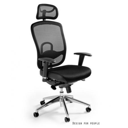 Unique Vip Fotel biurowy, czarny W-80-4