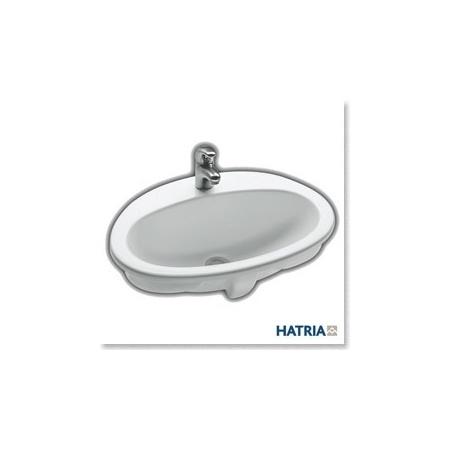 Hatria umywalka wpuszczana w blat Marine 56 cm x 43,5 cm biała Y751