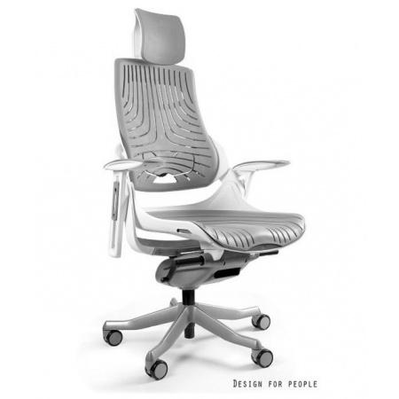 Unique Wau Fotel biurowy, elastomer, szary W-609W-8-TPE