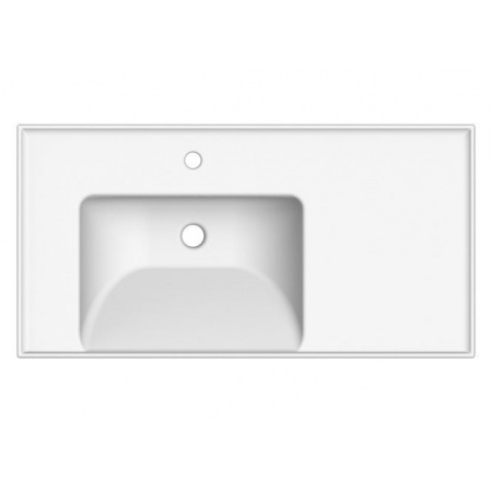 Scarabeo ML Umywalka wisząca lub wpuszczana w blat 92x47x18 cm, biała 3008