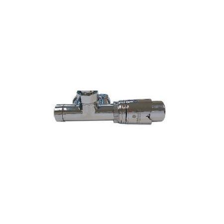 Schlosser Zestaw - przyłącze jednootworowe 1/2xM22x1,5 z rurką kolektora, prawe chrom (602100063)