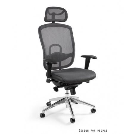 Unique Vip Fotel biurowy, szary W-80-8