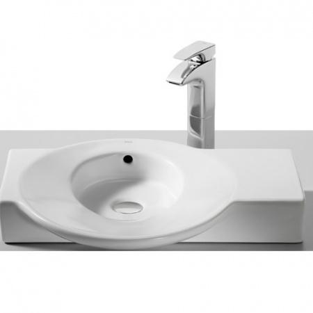 Roca Urbi 4 Umywalka nablatowa 60x45cm, bez otworu, z powłoką Maxi Clean, biała A32722C000M