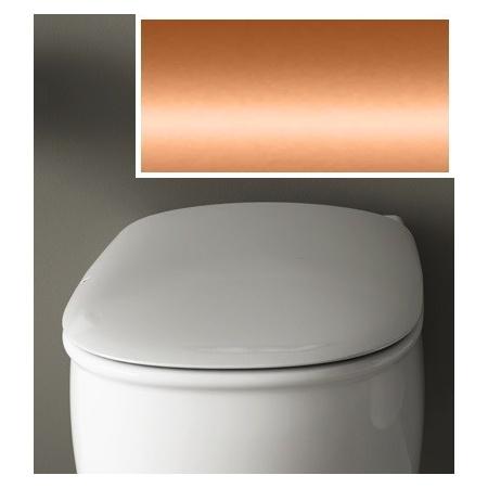 Art Ceram Azuley Deska wolnoopadająca 36x52 cm, biała, zawiasy brąz AZA00101;72