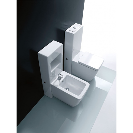 Kerasan Ego Miska WC + spłuczka stojąca, biały 3216+2481