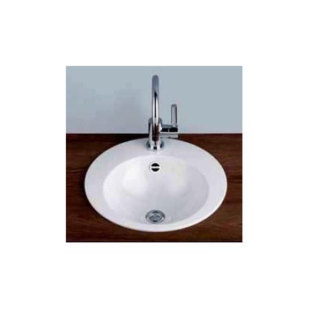 Alape EB.K450H LS RE Umywalka wpuszczana w blat 45 cm emaliowana biała 2004080401