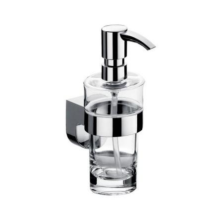 Emco Mundo Dozownik do mydła w płynie z uchwytem 11x17,2 cm, chrom 332100101