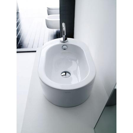 Kerasan Flo Umywalka nablatowa 56x34 cm z otworem na baterię po prawej, biała 3145