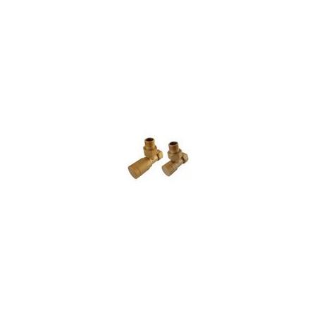 Schlosser Elegant zestaw grzejnikowy prosty PEX złoto-mat 6042 00066