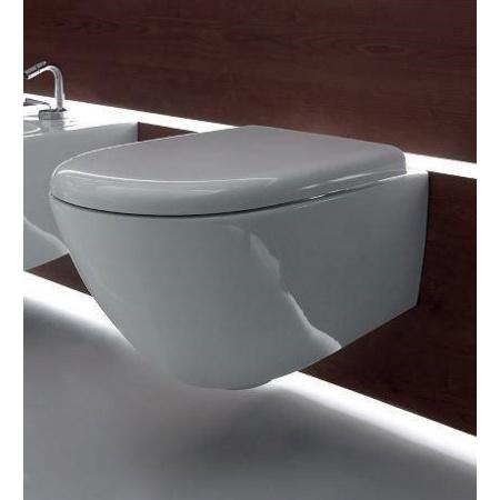 Kerasan Aquatech Miska WC wisząca z deską wolnoopadającą, biała 3715+378801