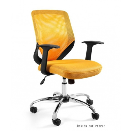 Unique Mobi Fotel biurowy, żółty W-95-10