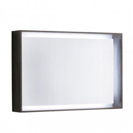 Keramag Citterio Lustro prostokątne 88,4x58,4x14 cm z oświetleniem LED, dąb czarny 835691000
