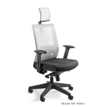Unique Nez Fotel biurowy, biały W-879K-MESH34