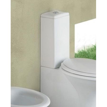 Hatria Sculture Zbiornik WC kompaktowy, podłączenie boczne, biały Y0FQ