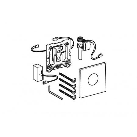 Geberit Mambo Elektroniczny zawór spłukujący do pisuaru zasilanie 230V, stal nierdzewna 116.023.FW.1