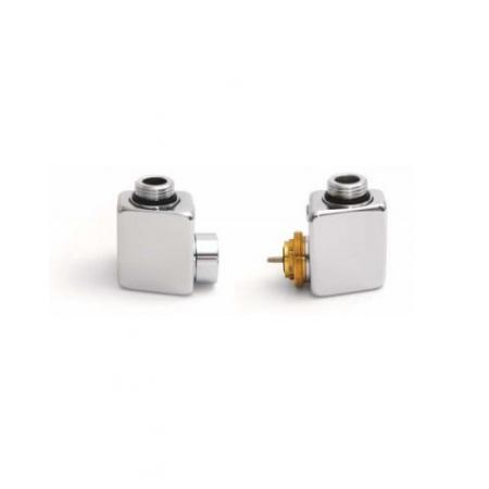 Terma Technologie Dexter Zestaw termostatyczny z gwintem zewnętrznym lewy, satyna TGETST002