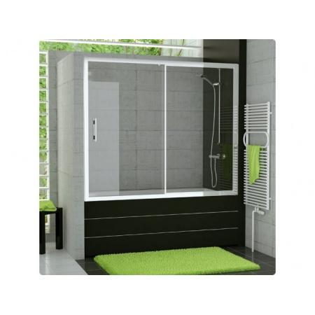 Ronal Top-Line Parawan nawannowy - 160 x 150 cm srebrny matowy Szkło przezroczyste (TOPB216000107)