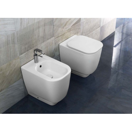 Hatria Fusion 48 Miska WC stojąca 35,5x48 cm, biała YXZK