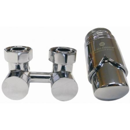 Schlosser Exclusive zestaw armatury 3/4xM22x1,5 prosty chrom + Nypel 2szt. 1/2 x 3/4 601000025