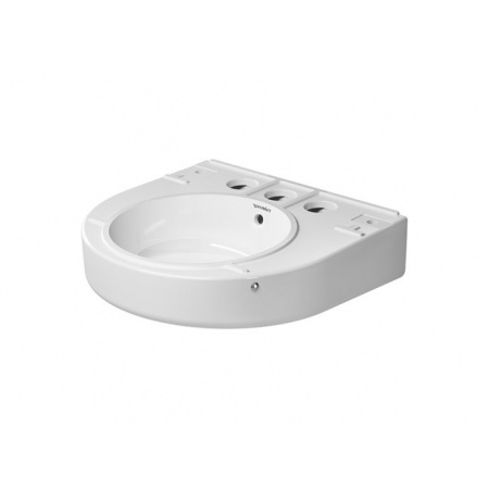 Duravit Onto Umywalka wisząca 52x49,5 cm z 3 otworami na baterię biała z powłoką WonderGliss 26305200301