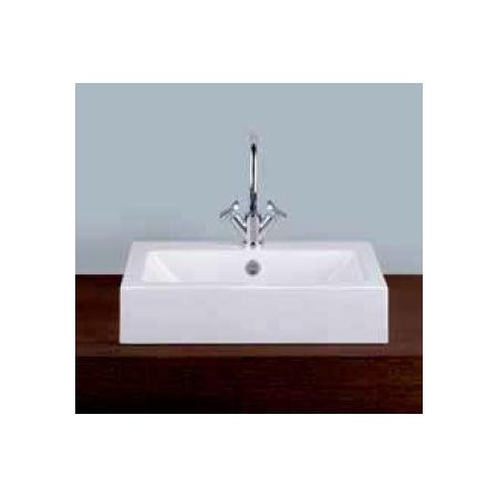 Alape umywalka emaliowana AB.R585H.2 biała z powłoką Easy-Care wymiary 135 x 585 x 405 nr kat. 3201300400