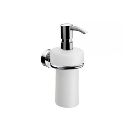 Emco Rondo 2 Dozownik do mydła w płynie z uchwytem 7x12,3x17,2 cm, chrom 452100102