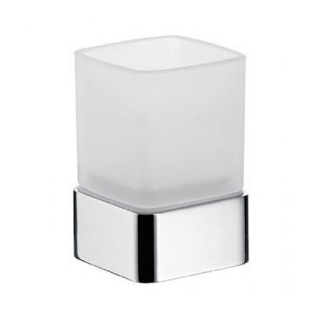 Emco Loft Kubek szklany z uchwytem 7,1x7,1x10,1 cm, chrom 052000101