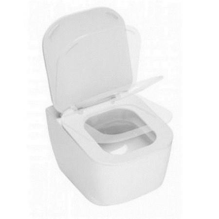 Hatria Fusion 48 Miska WC wisząca z deską wolnoopadającą, biała YXJ7