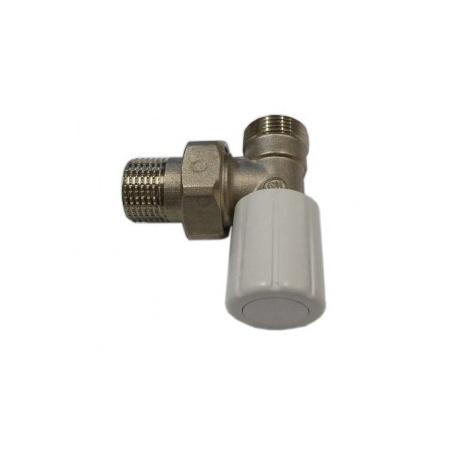 Schlosser DN15 zawór grzejnikowy z pokrętłem 1/2xM22x1,5 kątowy 6014 00019