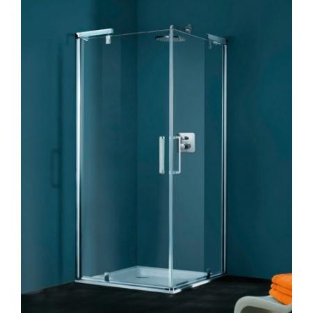 Huppe Refresh Pure Kabina prysznicowa, wejście narożnikowe, drzwi skrzydłowe - 80/80/194 biały Szkło Karo 9P0101.055.311