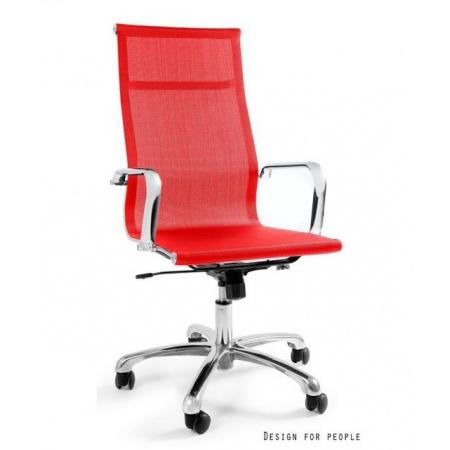 Unique Drafty Fotel biurowy, czerwony WX-14A-2