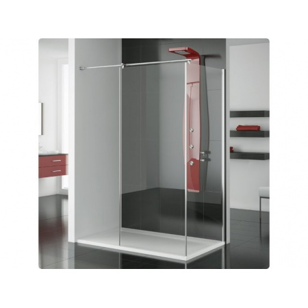 Ronal Modulo Ścianka prysznicowa typu Walk-in - 90 x 150 x 200 cm biały Szkło Durlux 200 (MOD4901500422)