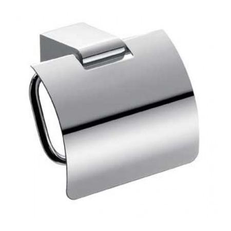 Emco Mundo Uchwyt na papier toaletowy z pokrywą 14,4x13,6x16,1 cm, chrom 330000100