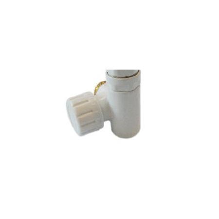 Schlosser Zawór termostatyczny do grzałki elektrycznej - prawy biały ze złączka PEX (604900002)