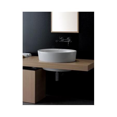 Scarabeo Matty Umywalka wpuszczana w blat 64x46x30 cm, biała 8056/A