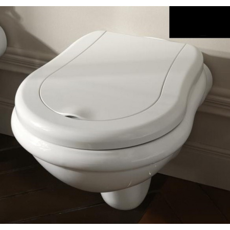 Kerasan Retro Miska WC wisząca 52x38 cm, czarna 101504
