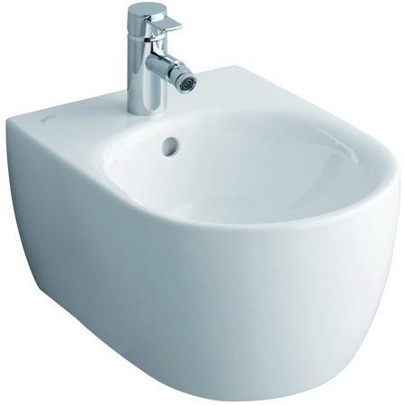 Keramag iCon Bidet wiszący z otworem 54x35,5 cm bez powłoki, biały 234000