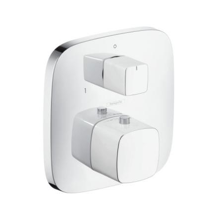 Hansgrohe PuraVida Bateria wannowo-prysznicowa podtynkowa z termostatem, biały/chrom 15771400