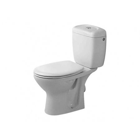 Duravit Duraplus Miska toaletowa lejowa 35,5x64,5 cm stojąca, odpływ poziomy, z powłoką WonderGliss - Biały (Alpin) (02290900001)