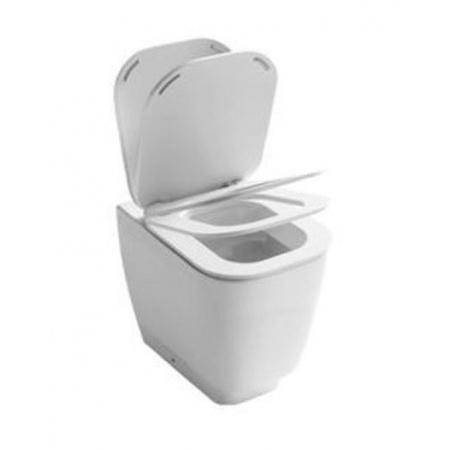 Hatria Fusion 48 Miska WC stojąca z deską wolnoopadającą, biała YXBY