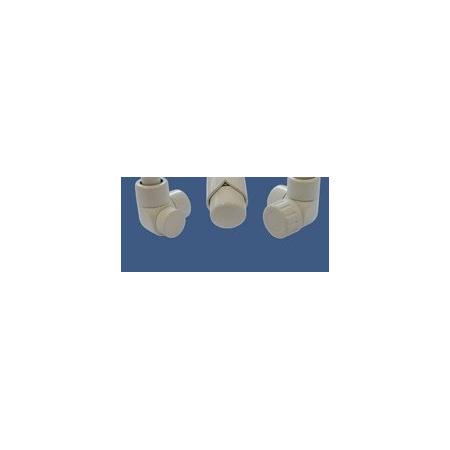 Schlosser Zestaw łazienkowy LUX GZ 1/2x złączka 16x2 PEX - osiowo lewy biały (603700033)