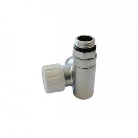 Schlosser zawór termostatyczny do grzałki lewy, satyna, ze złączką na Stal 6049 00018
