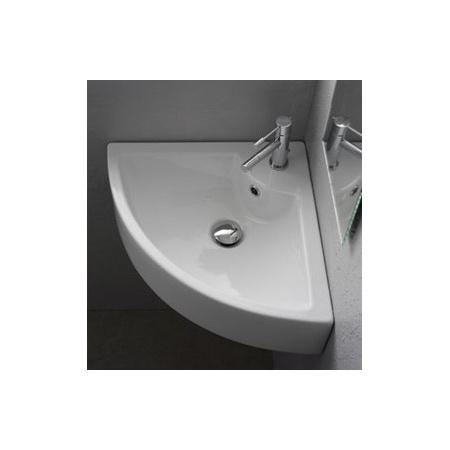 Scarabeo Square Umywalka narożna 47,5x47,5x16 cm, biała 8025/B