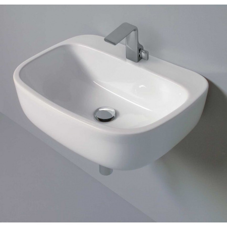 Flaminia Mono Umywalka ścienna 54x40x18,5 cm, biała MN54L