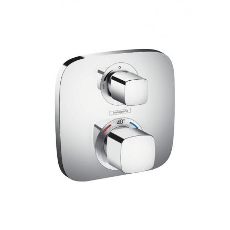 Hansgrohe Ecostat E Bateria termostatyczna z zaworem odcinającym, montaż podtynkowy, element zewnętrzny, chrom 15707000